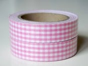 Image of Fabric tape &quot;Vichy rosa&quot;
