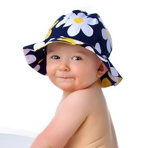 Image of Reversible Sun Hat Pattern with Ruffled or Plain Brim - Baby and Child PDF Pattern
