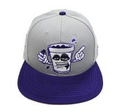 "Image of SO FRESH CLOTHING ""SYRUP SIPPERS"" SNAP (GREY/PURP)"