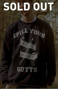 "Image of ""No Gutts, No Glory"" Navy Blue, Sweatshirt"