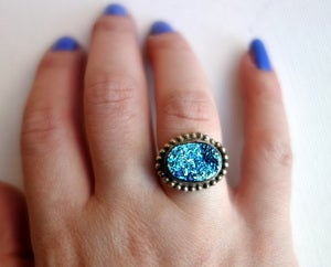 Image of Handmade Aqua Drusy Ring