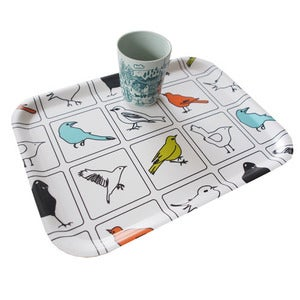 Image of Birchwood tray {The Birds}