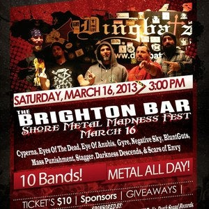 Image of *TICKETS* Shore Metal Madness @ The Brighton Bar, Long Branch, NJ
