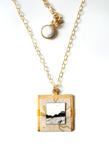 "Image of ""Josephine"" Fine Art Collage Necklace"