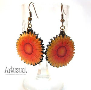 Image of Pendientes girasol.