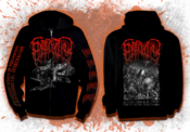 "Image of EPICARDIECTOMY ""Abhorrent Stench"" zip-up hoodie"
