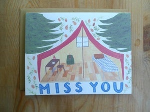 Image of Miss You Pup Tent Card by Small Adventure