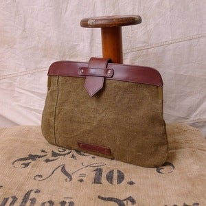 Image of Reclaimed Tent Canvas 'Double Clutch' / ipad cover