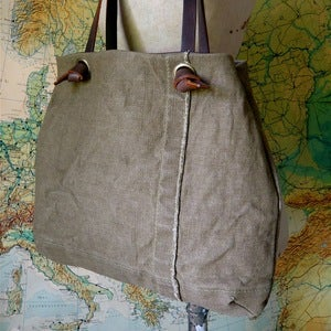 Image of Reclaimed Tent Canvas Knot Tote