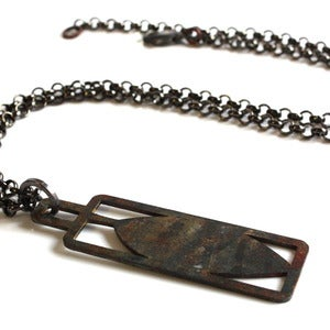 Image of Leaf Necklace- open design