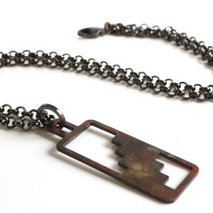 Image of Elongated Balcony Stair necklace