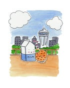 Image of PRINT: 8x10 Milk and Cookies in Love in Seattle