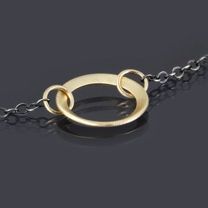Image of Brushed Gold Ring Necklace