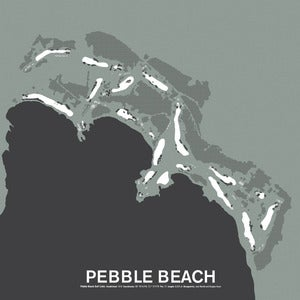 Image of Pebble Beach Golf Links Screenprint Poster