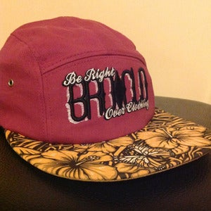 Image of BROCLO Floral 5 Panel Snapback (Maroon)