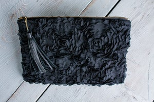 Image of Harlow Clutch in Black Baccara