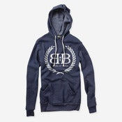 Image of Royal Crest Pullover Hoodie (Navy)