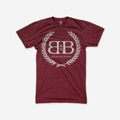 Image of Royal Crest Tee (Heather Cranberry)