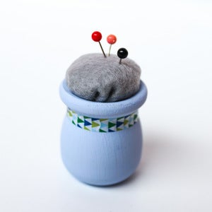 Image of Lilac &amp; Washi Teeny, Tiny Modern Pincushion