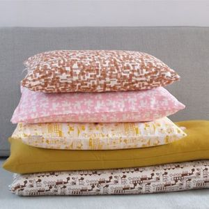 Image of Housse de coussin Tas-ka - Ville jaune