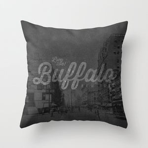 Image of &lt;b&gt;Long Live Buffalo&lt;/b&gt;&lt;br&gt;Main Street&lt;br&gt;Throw Pillow