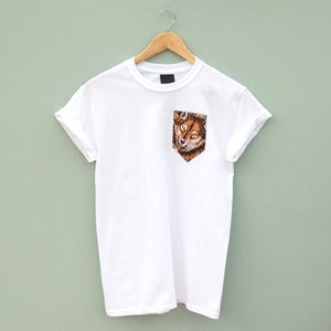 Image of Wolf Pocket Tee by Patch Apparel 