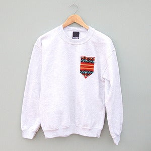 Image of Red Aztec Pocket Sweatshirt by Patch Apparel 