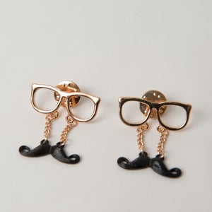 Image of Moustache Collar Pins