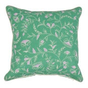 "Image of Greta Green/Purple Custom Color Double Sided 22"" Pillow"