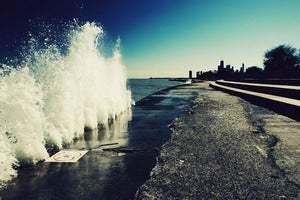 Image of Lake Michigan/Chicago photograph print by Ryan Russell