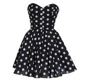 Image of Pin-Up Black Polka Dot Prom Party Dress