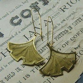 Image of Gold Gingko Earrings