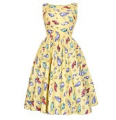 Image of Audrey Retro 50s Chevrolet Car Print Vintage Inspired Dress