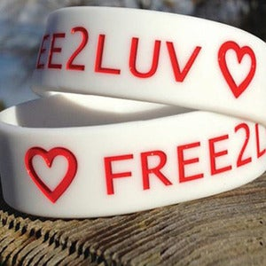 "Image of LIMITED EDITION 3/4"" FREE2LUV WRISTBAND"