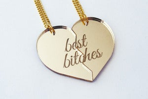 Image of Best Bitches Necklace Set - Gold