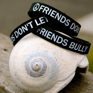 Image of FRIENDS DON'T LET FRIENDS BULLY Wristband ~ NEW!