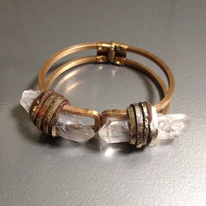 Image of BRASS TWIN FLAME CUFF BRACELET