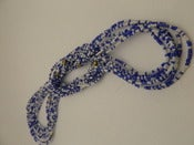 Image of White and Blue Single strand waist bead