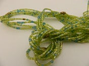 Image of Green and Baby Blue Single Strand glass bead