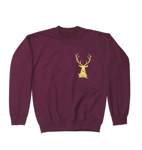 Image of Stag Logo Sweatshirt // Burgundy //