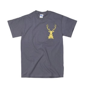 Image of Stag Logo Tee // Charcoal //