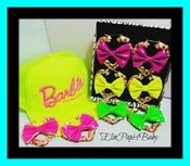 Image of ♥NEON Bow Earrings♥ ♥Heart Bamboo♥
