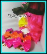 Image of ♥NEON Bow XL Earrings♥