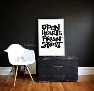 Image of OPEN HEARTS poster print