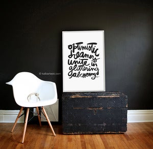 Image of OPTIMISTIC poster print