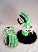 "Image of NEW LE Neon Green STX Assault gloves (12"")"