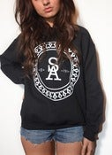 Image of Crest Sweatshirt Black - Woman's