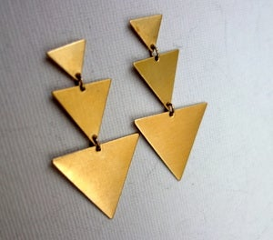 Image of Brass Triangle Dangles