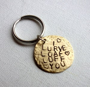 Image of Lurve Loaf  Luff Keychain