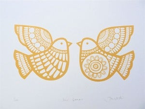 Image of Dove Games Screen Print by Jane Foster